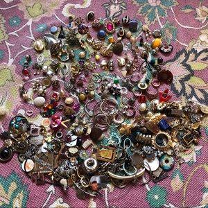 Jewelry - Junk Drawer Jewelry Single Earrings Repair Lot
